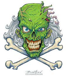 Marijuana Zombie Posters by Brian Allen, via Behance