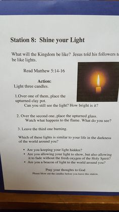 Have the candles burning and have kids identify which one they are, create a prayer/next step for each choice. Prayer Ministry, Church Ministry, Youth Ministry, Ministry Ideas, Object Lessons, Bible Lessons, Sunday School Lessons, Lessons For Kids, Advent Prayers