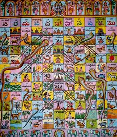 Apparently this game goes all the way back to India some time prior to the 16th century, where it was known as Vaikuntapaali or Paramapada Sopanam (the ladder to salvation).