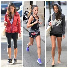 Jamie Chung it girl academia Jamie Chung, Sporty Outfits, Sporty Style, Celebrity Workout, Celebrity Style, Summer Workout Outfits, Stockholm Street Style, Paris Street, Leather Leggings Outfit