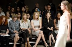 Pin for Later: Whoever's Next to Anna Wintour Has the Best Seat in the House Nicole Kidman Anna and Nicole were just a stone's throw away from each other at Calvin Klein's Spring 2014 show.