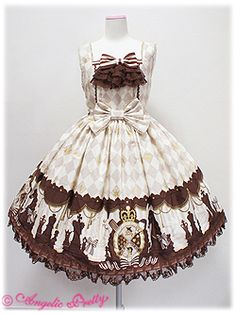 Angelic Pretty / Jumper Skirt / Chess Chocolate JSK with Jabot