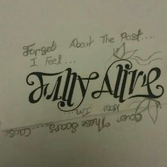Ok, this is awesome. Really awesome. Check it upside down. Inspired by Flyleaf - Fully Alive. Ambigram Tattoo, I Tattoo, Alive Tattoo, Fully Alive, Rock Artists, Tattoos For Guys, Piercings, Chill, Tattoo Ideas