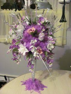 Sweet 16 centerpieces event planning pinterest sweet for Flower arrangements for sweet 16