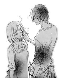 Image about girl in Anime by BeyondThisIllusion Manga Anime, Anime Boys, Anime Love Couple, Cute Anime Couples, Anime Kawaii, Kawaii Cute, Photo Manga, Romantic Manga, Manga Cute