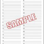 Spelling Test Paper (30 words) with Handwriting Assessment