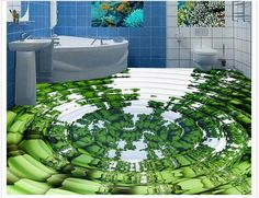 (27.58$)  Watch more here - http://ai6p6.worlditems.win/all/product.php?id=32778771253 - 3d Flooring Murals Custom Photo Wallpaper new 3d floor water wave motion photo Bathroom Self-adhesive PVC Waterproof Wallpaper