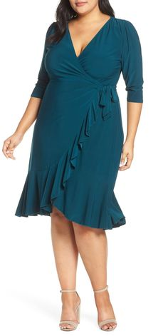 online shopping for Kiyonna Whimsy Wrap Dress (Plus Size) from top store. See new offer for Kiyonna Whimsy Wrap Dress (Plus Size) Summer Wedding Outfits, Dresses To Wear To A Wedding, Party Dresses For Women, What To Wear To A Wedding As A Guest, Summer Weddings, Wedding Weekend, Party Outfits, Wedding Attire, Wedding Dress