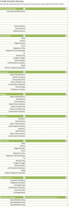 field trip planner template
