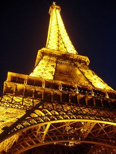 The Eiffel Tower, Paris,France, amazing structure, you have to go see it especially at night! #paris