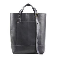 Hansen Tote - Black Leather