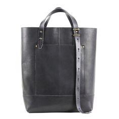Hansen Tote - Black Leather