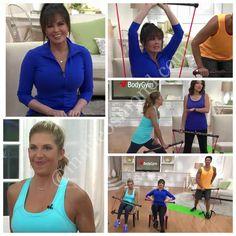 Marie Osmond, Mindy Buxton, Sandra Bennett & TJ Buxton at QVC with the Body Gym