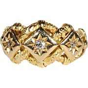 SALE PENDING Antique Victorian Diamond Love Knot Ring in 18k Gold, Hallmarked 1916