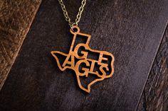 Wood Aggies Mascot Necklace on bourbonandboots.com #aggies #a&m #SEC #football #texas