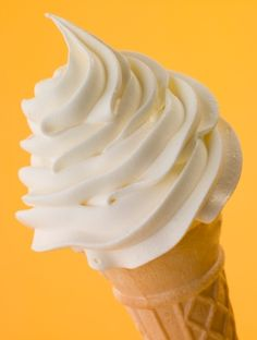 Find out whether this soft-serve frozen custard ice cream cone has fewer than 400 calories, here: Frozen Custard, Frozen Yogurt, Healthy Desserts, Dessert Recipes, Sugar Cones, Soft Serve, Sweet Almond Oil, Ice Cream Recipes, The Fresh