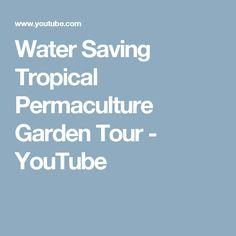 Water Saving Tropical Permaculture Garden Tour - YouTube