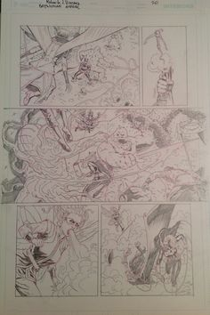 Original Pencil from Batwoman Annual (April 2015) page 20. For sale. contact: rjviacava@gmail.com