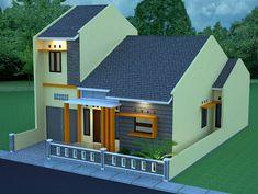 Contoh Desain Rumah Minimalis Modern Terbaru Type 36 Minimalist House Design, Minimalist Home, Small Modern House Plans, Structural Insulated Panels, Latest House Designs, Bungalow House Design, House Elevation, Architect Design, Model Homes