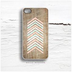 iPhone 5 Case Wood Print iPhone 5s Case Chevron door HelloNutcase, $19.00