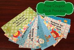 Free Coupon Book Printables