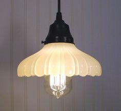 vintage milkglass pendant lighting
