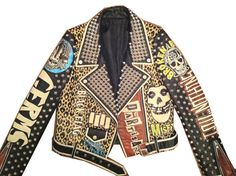 Punk Jacket - Women's Sizes - Studded Leather Motorcycle MISFITS Sub Humans Mickey Mouse is Dead