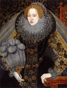 Queen Elizabeth with a Fan, 1585-1590. Attr. to John Bettes the Younger. Hever Castle, Kent.