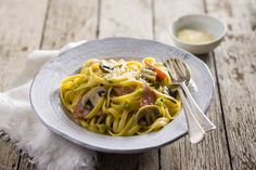 Creamy ham and mushroom pasta | The Heart Foundation