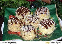 Medové dortíčky s piškotem recept - TopRecepty.cz Christmas Cookies, Waffles, Muffin, Baking, Breakfast, Syrup, Xmas Cookies, Morning Coffee, Christmas Crack