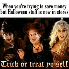 Trying to save money but there's Halloween stuff                                                                                                                                                                                 More