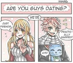 Don't lie Lucy you blushing cutie, natsu when asked if nalu is dating Art Fairy Tail, Fairy Tail Amour, Fairy Tail Photos, Fairy Tail Comics, Fairy Tail Funny, Fairy Tale Anime, Fairy Tail Love, Fairy Tail Guild, Fairy Tail Ships