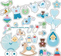 дети baby Papel Scrapbook, Baby Boy Scrapbook, Printable Stickers, Cute Stickers, Cuadros Diy, Baby Journal, Baby Clip Art, Baby Cookies, Baby Album