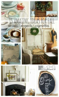 Lots of fabulous fall ideas to inspire you for the season including home decor, craft ideas, recipes, and more!