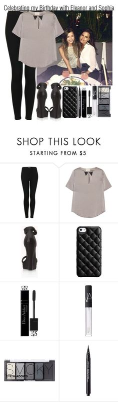 """Celebrating My Birthday with Eleanor and Sophia"" by elise-22 ❤ liked on Polyvore featuring Topshop, Band of Outsiders, Forever 21, Case-Mate, Christian Dior, NARS Cosmetics, H&M and Shiseido"