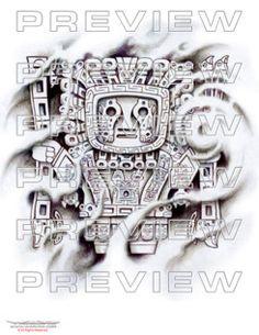 awesome prehsipanic tattoo design viracocha  inca god