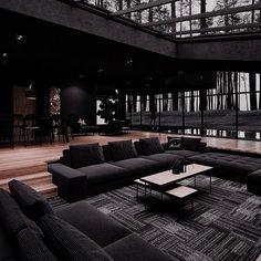 Home Room Design, Dream Home Design, Modern House Design, Dream House Interior, Luxury Homes Dream Houses, Deco Dyi, Black Interior Design, Appartement Design, Dark Interiors