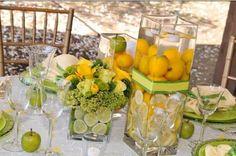 Lemon Lime centerpieces