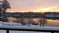 Weiss Lake AL Sunrise Feb 2015. Sunrise after the snow storm.