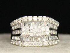 (23-00828-02) 14k White Gold 2.5 cttw Diamond Band