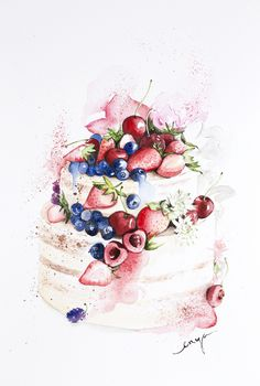 Fruity cake commissioned by Indonesia cake designer Maura