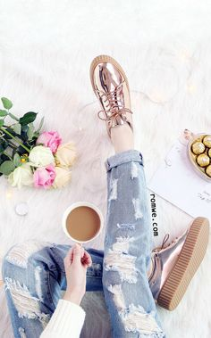 Fashion Item - Rose Gold Patent Leather Rubber Sole Sneakers from romwe.com