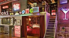 Cool idea for a girly loft apartment