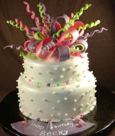 Birthday Cake designs that suit kids and first year birthday. There are also creamy frosting ideas, made with fruits and white chocolate