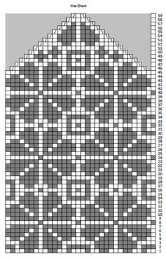 Knitted Mittens Pattern, Fair Isle Knitting Patterns, Knit Mittens, Knitting Charts, Knitting Stitches, Knitted Hats, Crochet Chart, Filet Crochet, Fair Isle Chart