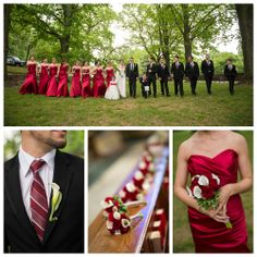 Swooning over this gorgeous red wedding!