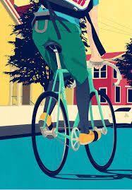 Fixie Art by Jaehyun Jang, via Behance Cycling Art, Road Cycling, Road Bike, Fixed Gear Girl, Bike Illustration, Fixed Gear Bicycle, Pedal, Bike Art, Art Day