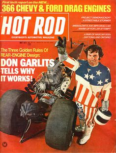 HOT ROD Magazine - May 1971 - Don Garlits rear-engined dragster.