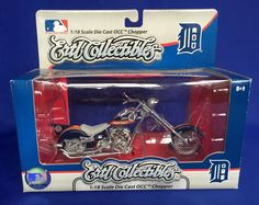 Ertl Detroit Tigers OCC Chopper Motorcycle 1:18 Scale Die Cast Metal Baseball  #ERTL #DetroitTigers