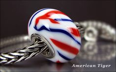 4th of July ~  American Tiger for Trollbeads and Pandora by Eagle Bay Designs